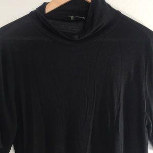 Black mock neck shortsleeved top. Super soft!